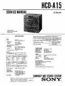 Sony Hcd-a15  Lbt-a15cd Service Manual