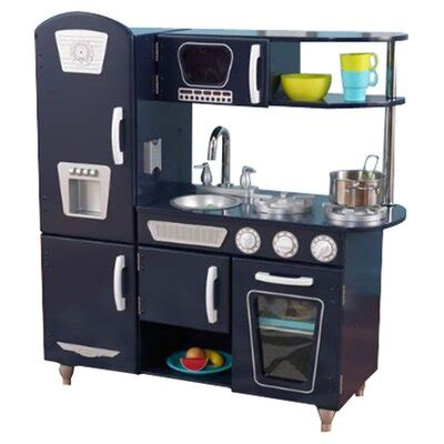 kidkraft blue vintage kitchen ii reviews wayfair