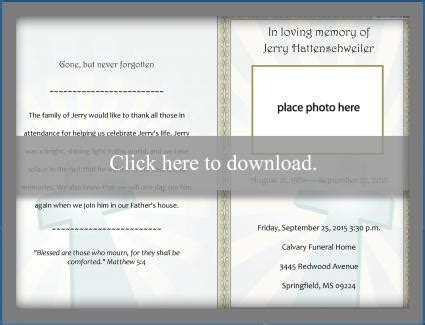 free funeral program template free funeral program templates lovetoknow