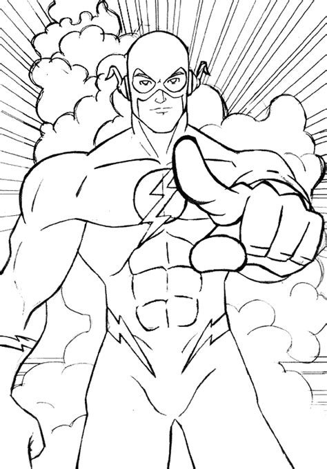 flash coloring pages  coloring pages  kids