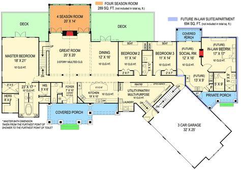 plan jl rustic ranch   law suite  law house ranch house plans house plans