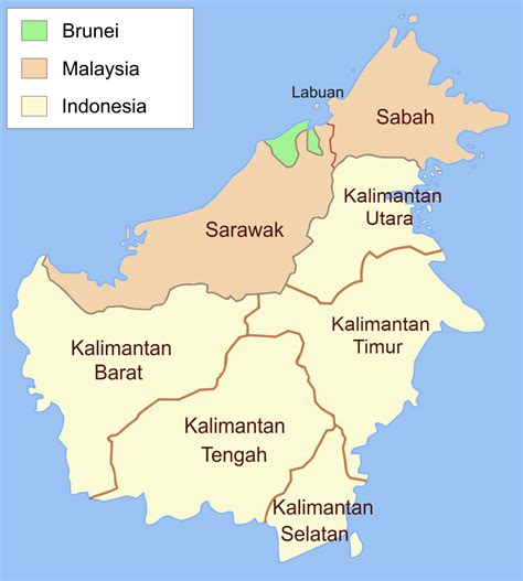berkasadministrative map  borneo indonesianpng