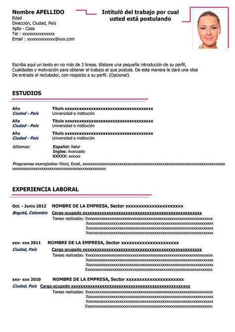 Préparer Un Cv by Plantilla De Cv Para Word Gratis Curriculum Estudiantes