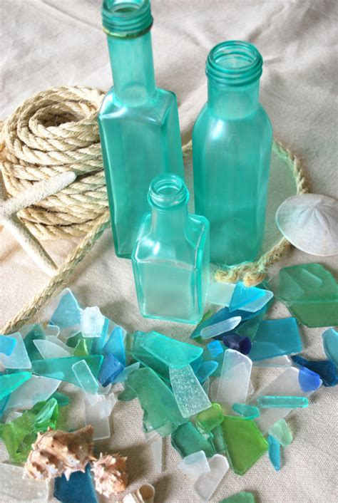 diy sea glass bottles lazy pagan