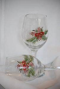 Holiday Glass Painting Ideas on Pinterest