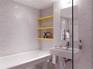 la renovation dune maison construite au 18eme siecle With mosaique salle de bain blanche