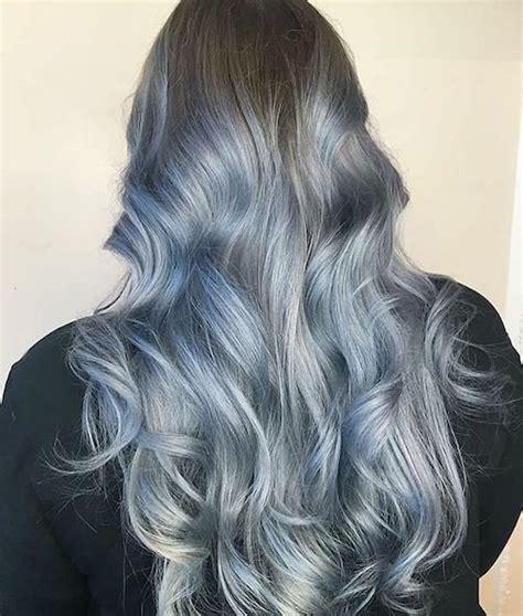 denim hair color ideas  match  jeans