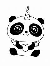 Panda Eenhoorn Kleurplaat Unicorn Kleurplaten Coloring Colouring Pandacorn Leukekleurplaten Leuke Panada Kolorowanka Coloringpage Colorear Pandabeer Ladnekolorowanki Dibujosparaimprimir Kleur Colour Check sketch template