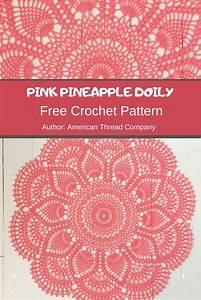 Pink Pineapple Doily Crochet Pattern  Ufe0f Mycrochetpattern In