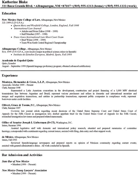 sle immigration attorney resume