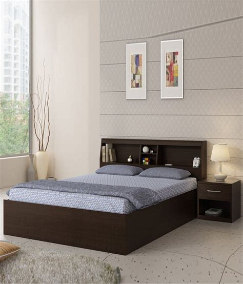 spacewood arcade queen size bed  side table buy