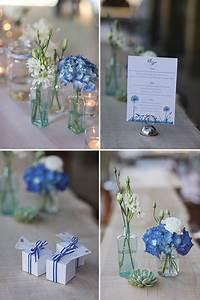 Tisch Blumen Hochzeit : dekoration blau weiss fleurscott gretakenyon16 maritime tischdeko ~ Orissabook.com Haus und Dekorationen