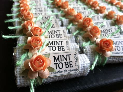 Do It Yourself Wedding Favors by Quot Mint To Be Quot Wedding Favors Do It Yourself I Did It S