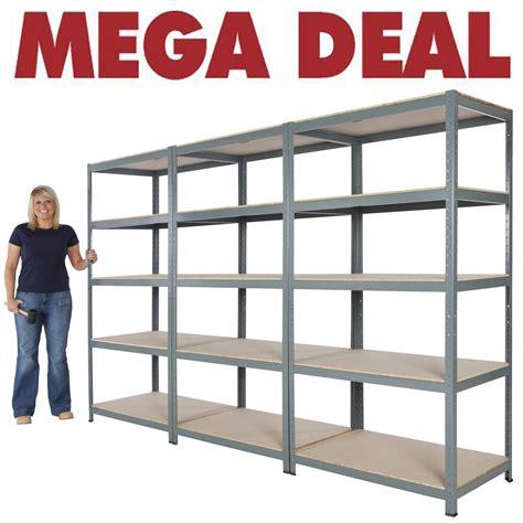 shelf units hxwxd steel garage shelving