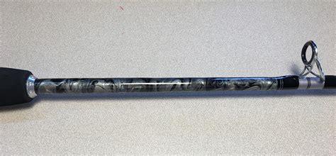 custom marbling rod  reel repair vintage