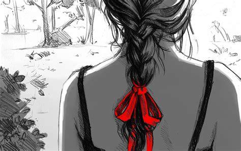 woman plaits braids drawing wallpapers woman plaits