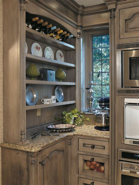 distressed grey cabinets houzz