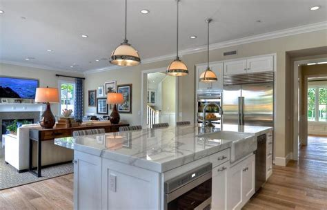 Open Concept Small Kitchen Living Room Categories Combo