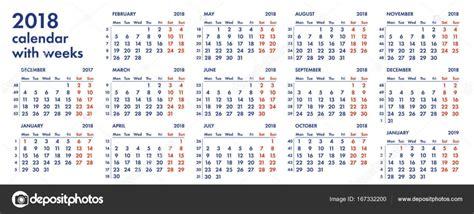 calendar grid weeks vector illustration stock vector