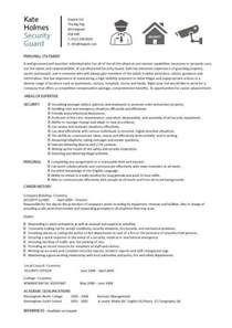 security guard skills for resume security guard cv sle