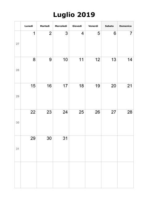 calendario luglio 2019 da stare pdf calendario luglio 2019