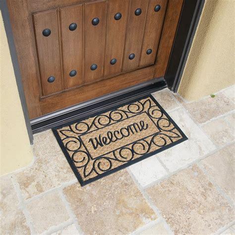 welcome home doormat quot welcome home again quot coir rubber door mat