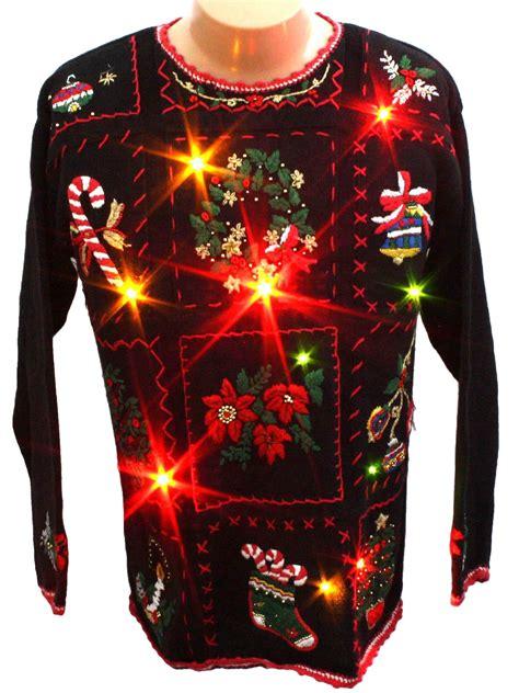 light up ugly christmas sweater work in progress unisex