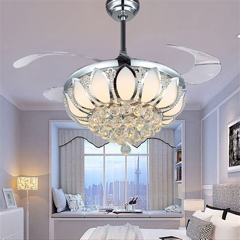 bedroom ceiling fans with lights and remote aliexpress com buy modern ceiling fan crystal ventilador