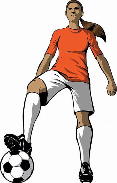 Soccer Clipart Player Cartoon Playing Clip Cliparts