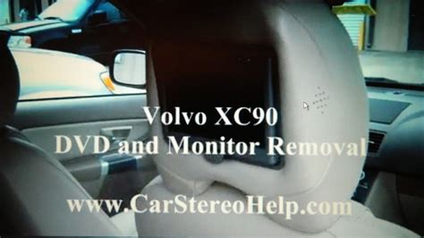 volvo xc head rest dvd  monitor removal