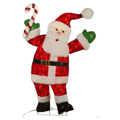 holiday living   tinsel santa outdoor christmas