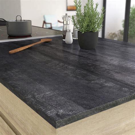 Plan De Travail Noir Plan De Travail Droit Stratifie Vintage Wood Noir 315 X 65 Cm Ep 16 Mm Jpg