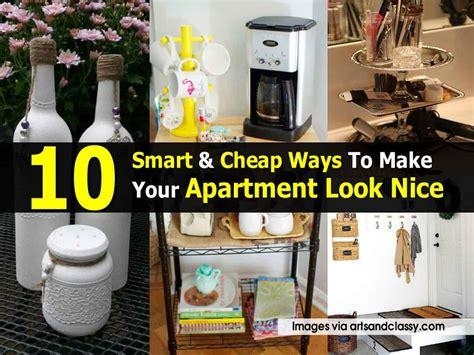 smart cheap ways    apartment  nice