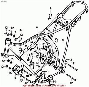 Honda Xl125 K1 Usa Frame