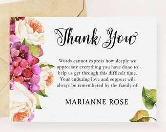 Free download >> bereavement thank you card. Free Funeral Thank You Card Templates Microsoft Word - Cards Design Templates