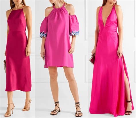 What Color Shoes with Hot Pink Dress Outfit
