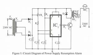 power supply resumption alarm electronics project With alarm power supply