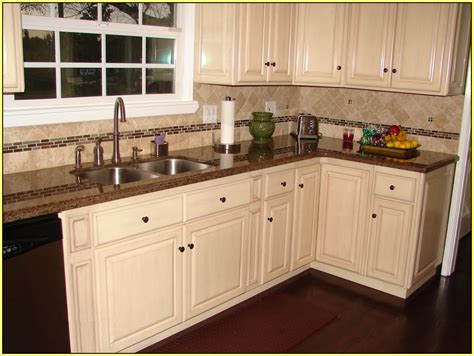 White Kitchen Countertops With Brown Cabinets Best 25