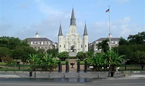 Check out the historical Jackson Square in New Orleans ...