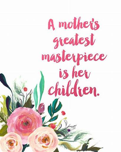 Mother Mothers Masterpiece Quotes Happy Prints Gift