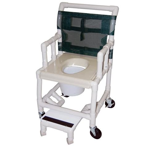 18 wide deluxe drop arm shower commode chair with vacuum
