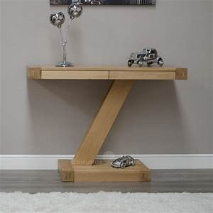 Z modern console table oak console and hall tables for Modern hall table