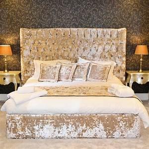 Bespoke Reina Curved Crushed Velvet Bed Frame Various
