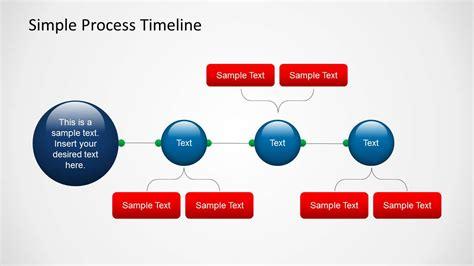 simple process timeline template  powerpoint slidemodel