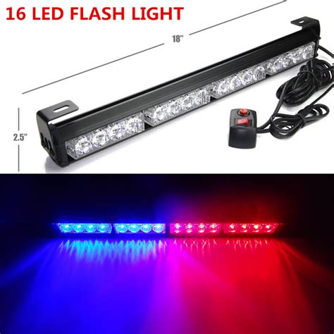 18 quot 16 led emergency warning traffic advisor flash strobe