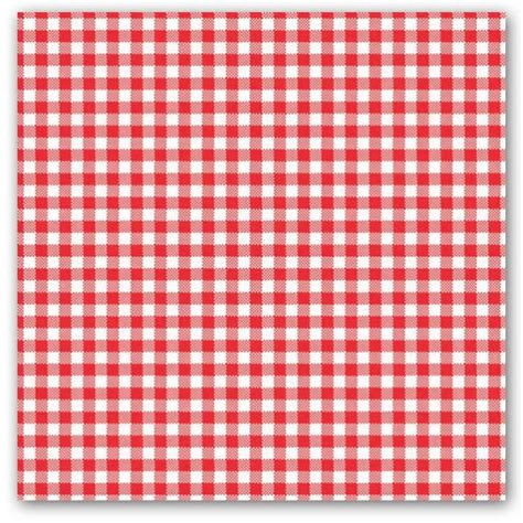 red checked luncheon napkins paperstyle