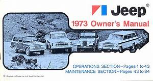 1973 Jeep Repair Shop Manual Reprint 73 Cj 5  6 Wagoneer