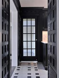 Black and White Foyer
