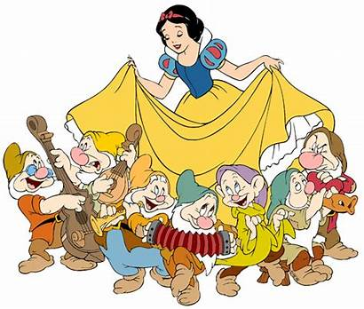 Dwarfs Snow Seven Clipart Clip Disney Dwarf