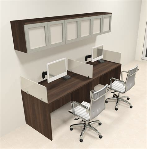 l shaped corner desk with file cabinet two person modern divider office workstation desk set ch